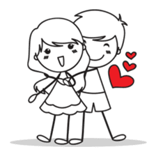 Sweet Love Couple sticker #14123908