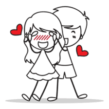 Sweet Love Couple sticker #14123911