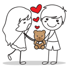 Sweet Love Couple sticker #14123935