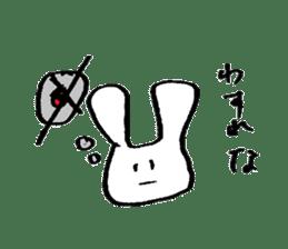 very common rabbit sticker #14127833