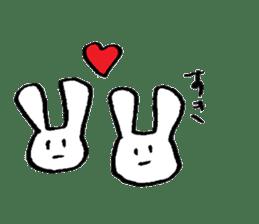 very common rabbit sticker #14127836