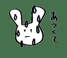 very common rabbit sticker #14127841