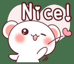 Fluffy Bear most Lovely 40set sticker #14128062