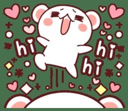 Fluffy Bear most Lovely 40set sticker #14128064