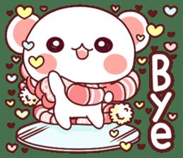 Fluffy Bear most Lovely 40set sticker #14128065