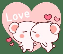 Fluffy Bear most Lovely 40set sticker #14128066