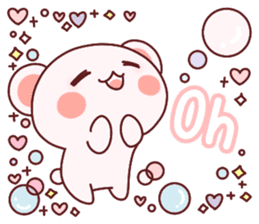 Fluffy Bear most Lovely 40set sticker #14128078