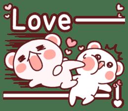 Fluffy Bear most Lovely 40set sticker #14128080