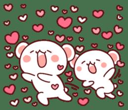 Fluffy Bear most Lovely 40set sticker #14128085