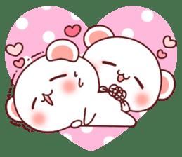 Fluffy Bear most Lovely 40set sticker #14128091