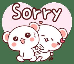 Fluffy Bear most Lovely 40set sticker #14128093