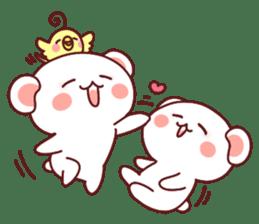 Fluffy Bear most Lovely 40set sticker #14128094