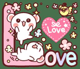 Fluffy Bear most Lovely 40set sticker #14128098