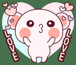 Fluffy Bear most Lovely 40set sticker #14128100