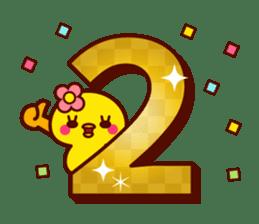 Cute little chick 3 sticker #14128618