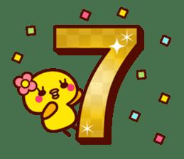 Cute little chick 3 sticker #14128621