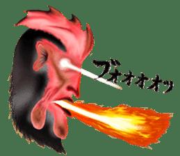 Chicken of a human face sticker #14129732