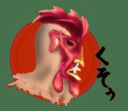 Chicken of a human face sticker #14129748