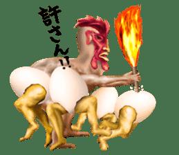 Chicken of a human face sticker #14129749