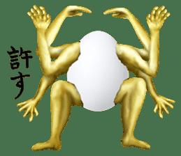 Chicken of a human face sticker #14129755