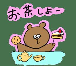Lovely dull bear sticker #14130061