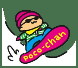 HELLO POCOchan! the first winter sticker #14130243