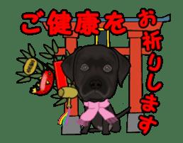Dog's New Year's Sticker sticker #14130361