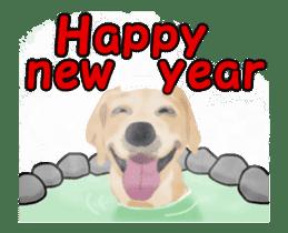 Dog's New Year's Sticker sticker #14130362