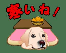 Dog's New Year's Sticker sticker #14130363