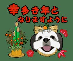 Dog's New Year's Sticker sticker #14130371