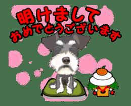 Dog's New Year's Sticker sticker #14130372