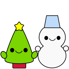 Snowman and tree 2