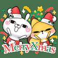 ひとえうさぎ9(クリスマス編) - クリエイターズスタンプ