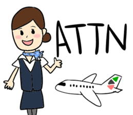 Ground Handling Agent Girl sticker #14139150