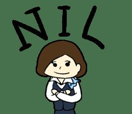 Ground Handling Agent Girl sticker #14139161