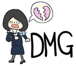 Ground Handling Agent Girl sticker #14139164