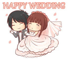 Special Happy Wedding sticker #14142999