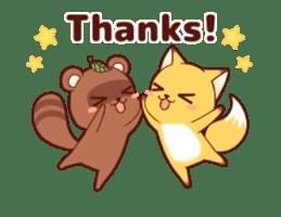 Tanuki & Fox animated sticker #14155936