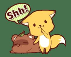 Tanuki & Fox animated sticker #14155937