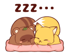 Tanuki & Fox animated sticker #14155938