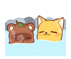 Tanuki & Fox animated sticker #14155939