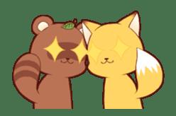 Tanuki & Fox animated sticker #14155940