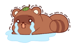 Tanuki & Fox animated sticker #14155943
