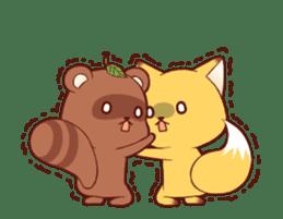 Tanuki & Fox animated sticker #14155945