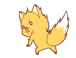 Tanuki & Fox animated sticker #14155947