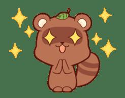 Tanuki & Fox animated sticker #14155950
