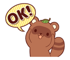 Tanuki & Fox animated sticker #14155954