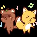 Tanuki & Fox animated