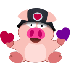 Cute Piggy Commando stickers (animated)