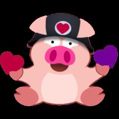 Cute Piggy Commando stickers (animated)